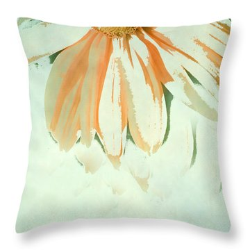 Reconstructed Flower No.1 Throw Pillow by Bonnie Bruno