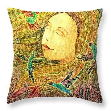 Throw Pillow featuring the painting Recordando A Puerto Rico by Oscar Ortiz