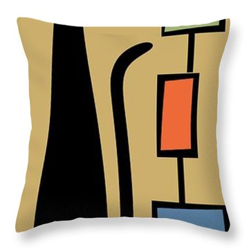 Rectangle Cat 2 Throw Pillow