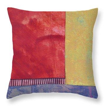 Rectangles - Abstract -art  Throw Pillow by Ann Powell
