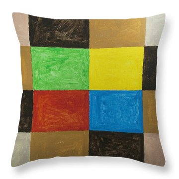 Rectangles Throw Pillow by Stormm Bradshaw