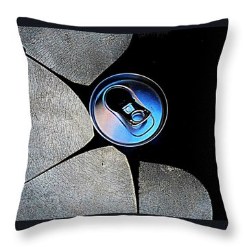 Recycled Can In A Recycle Bin Throw Pillow
