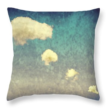 Recycled Clouds Throw Pillow by Amanda Elwell