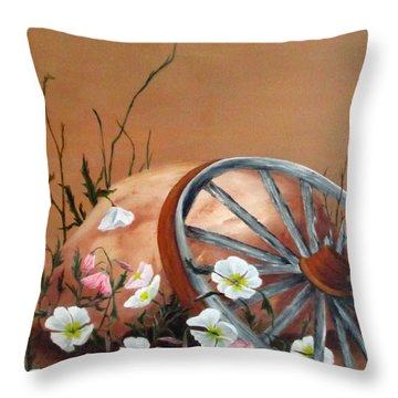 Throw Pillow featuring the painting Recycled by Roseann Gilmore