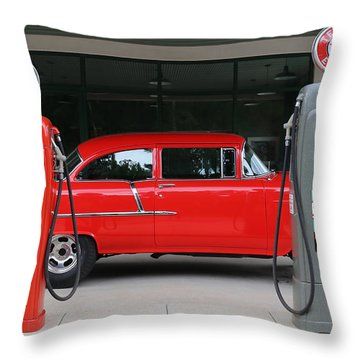 Red 55 Throw Pillow by Lynn Sprowl