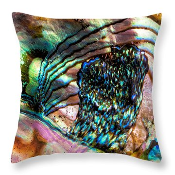 Red Abalone Throw Pillow