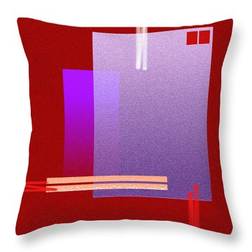 Red Abstract 2 Throw Pillow by Anil Nene