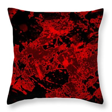 Red Abstract Throw Pillow by Jason Michael Roust