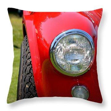 Red Ac Cobra Throw Pillow by Dean Ferreira