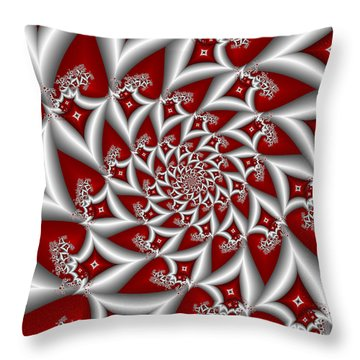 Red An Gray Throw Pillow