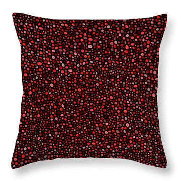 Throw Pillow featuring the digital art Red And Black Circles by Janice Dunbar