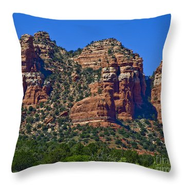 Throw Pillow featuring the photograph Red And White Rock by Kirt Tisdale