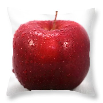 Red Apple Throw Pillow by John Rizzuto