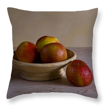Red Apples Throw Pillow by Trevor Chriss