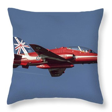 Red Arrows 50 Display Seasons Throw Pillow by J Biggadike