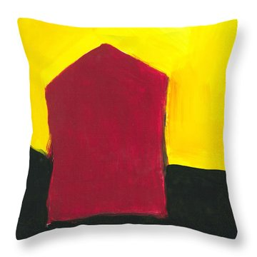 Red Arthouse Throw Pillow