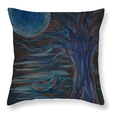Red At Midnight Throw Pillow