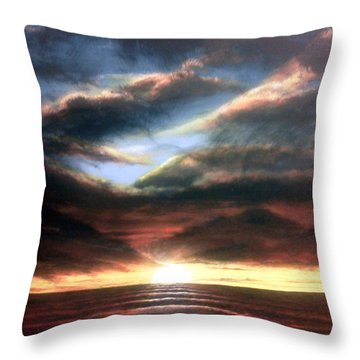 Red At Night Throw Pillow