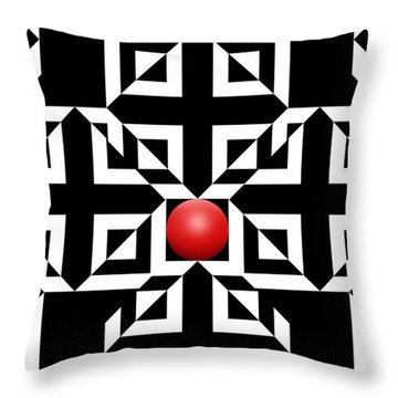 Red Ball 5 Throw Pillow by Mike McGlothlen