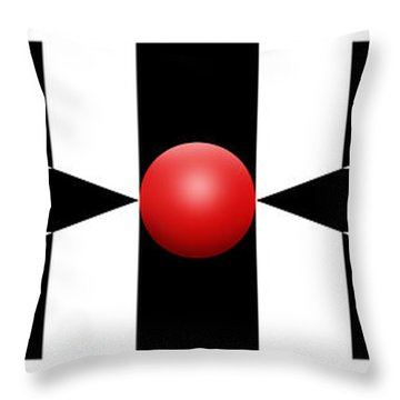 Red Ball 2a Panoramic Throw Pillow by Mike McGlothlen