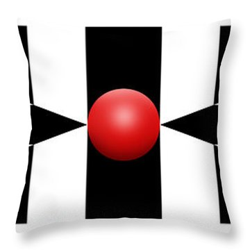 Red Ball 2a Panoramic Throw Pillow