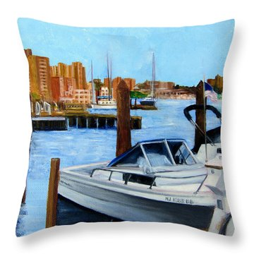 Red Bank Nj From Marine Park Throw Pillow