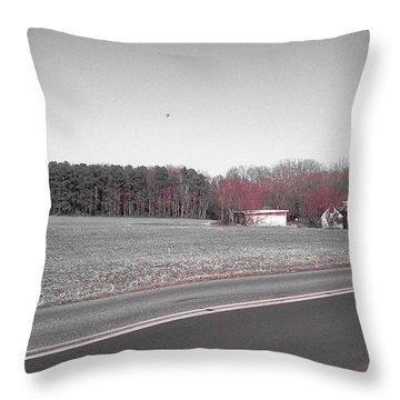 Red Barn  Throw Pillow by Amazing Photographs AKA Christian Wilson