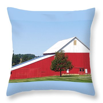 Throw Pillow featuring the photograph Red Barn by Gena Weiser