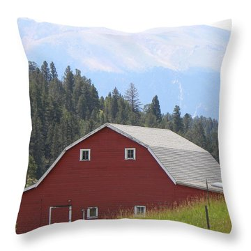 Barn - Pikes Peak Burgess Res Divide Co Throw Pillow