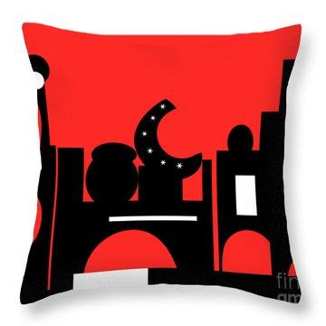 Red Bazaar Throw Pillow