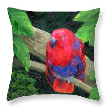 Parakeet Throw Pillows