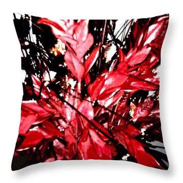 Throw Pillow featuring the digital art Red Black And Gray A Throw by Gayle Price Thomas