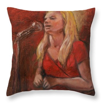 Red Blues Throw Pillow