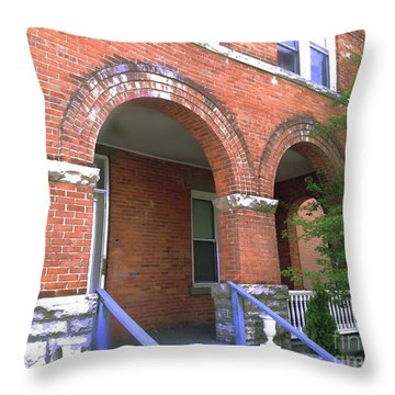 Throw Pillow featuring the photograph Red Brick Archway by Becky Lupe