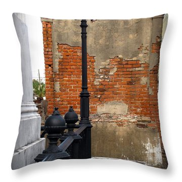 Red Bricks Throw Pillow