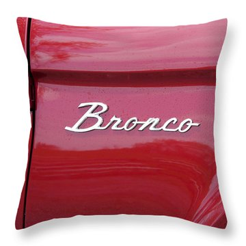 Red Bronco I Throw Pillow