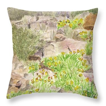 Red Butte Gardens Throw Pillow