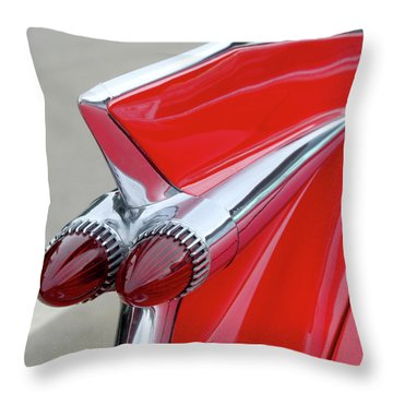 Red Caddy Throw Pillow by Art Block Collections