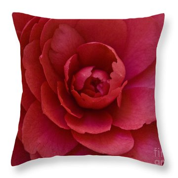Red Camellia Throw Pillow