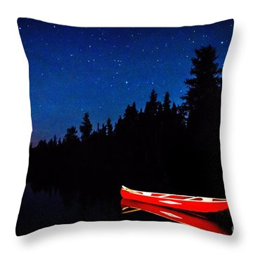 Red Canoe Throw Pillow