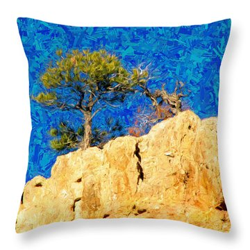 Red Canyon - Dixie National Forest Throw Pillow