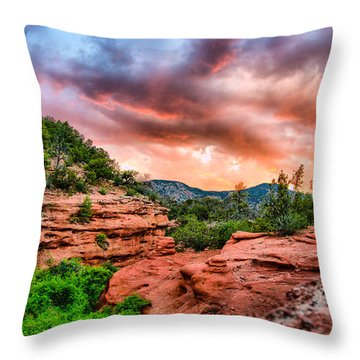 Red Canyon Throw Pillow