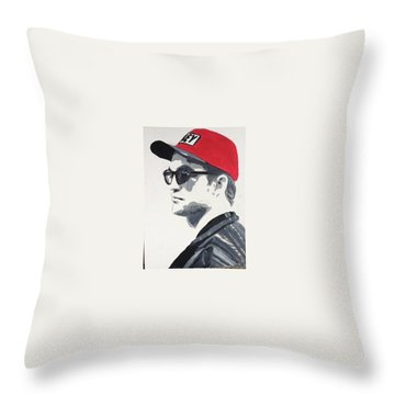 Red Cap Rob Throw Pillow