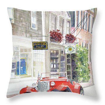 Red Car Throw Pillow by Carol Flagg