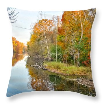 Red Cedar Fall Colors Throw Pillow