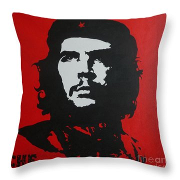 Red Che Throw Pillow by ID Goodall