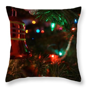 Red Christmas Bell Throw Pillow