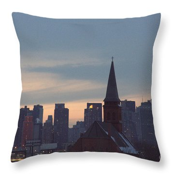 Throw Pillow featuring the photograph Red Church by Steven Macanka