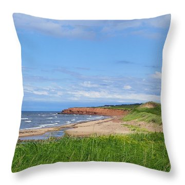 Red Cliffs Of Pei Throw Pillow