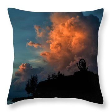 Red Clouds Throw Pillow by Michelle Meenawong